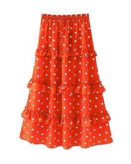 Fashion Polka Dot Bow Tie Beach Skirts