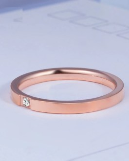 Fashion Simple Crystal Inlay Rings