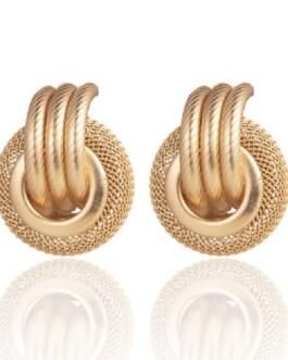 Fashion Vintage Geometric Matte Gold Earrings