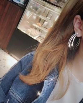 Multilayer Shining Crystal Circle Earrings