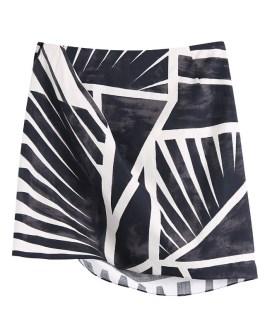 Sexy Split Pleated A Line Printed Mini Skirts