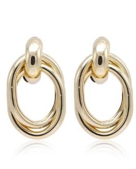 Vintage Geometric Charm Earrings