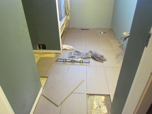 bathroom reno floor