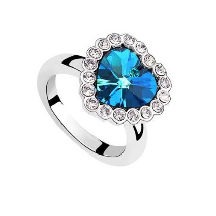 blue heart ring