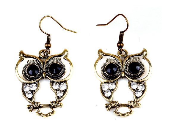 owl earrings 1