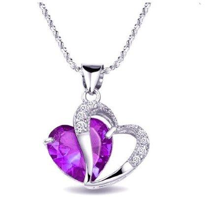 purple heart necklace