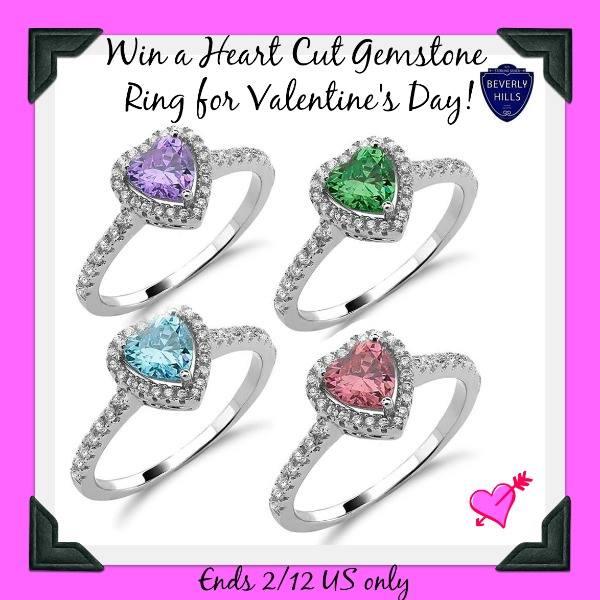 heart cut Gemstone-Button