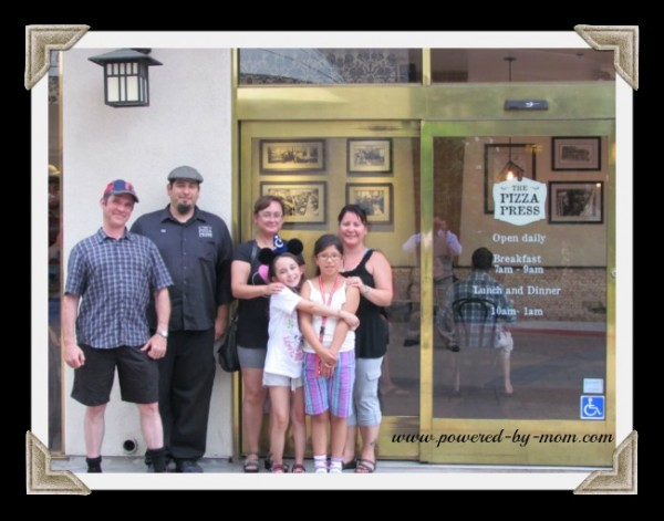 Pizza Press Family photo framed