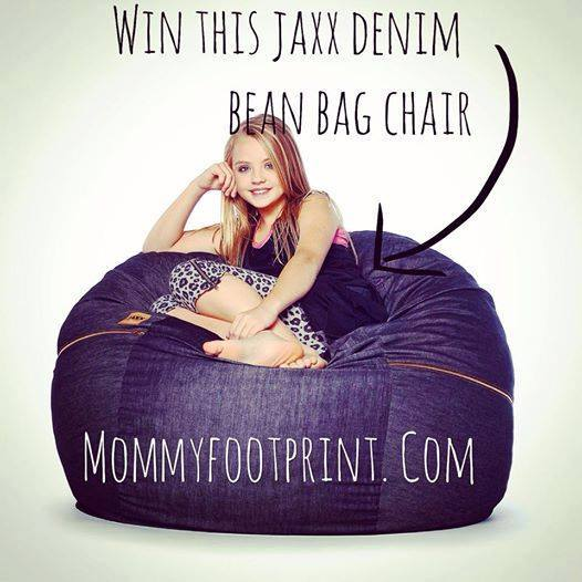 jaxx denim bean bag chair