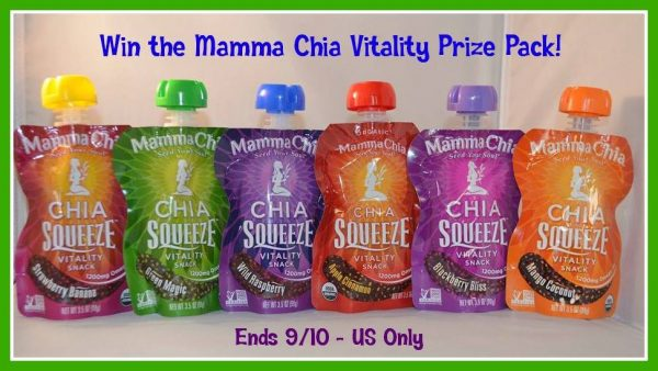 mamma chia vitality prize pack