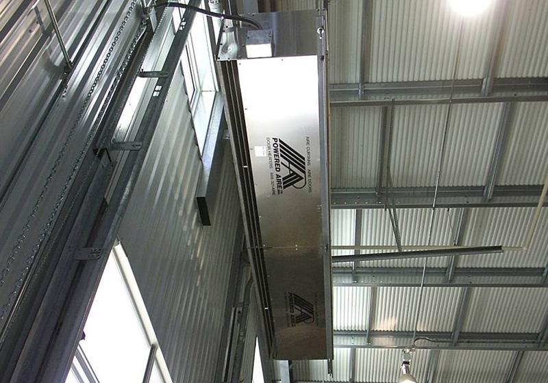 air curtain installation gallery
