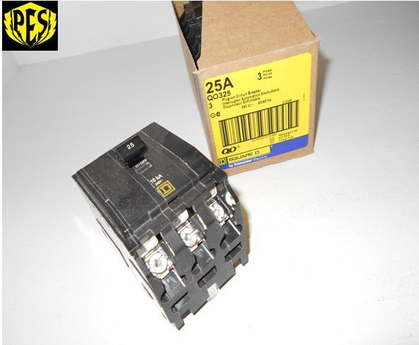 NEW SQUARE D QO QO325 3 POLE 25 AMP BREAKER 3 POLE 25 AMP