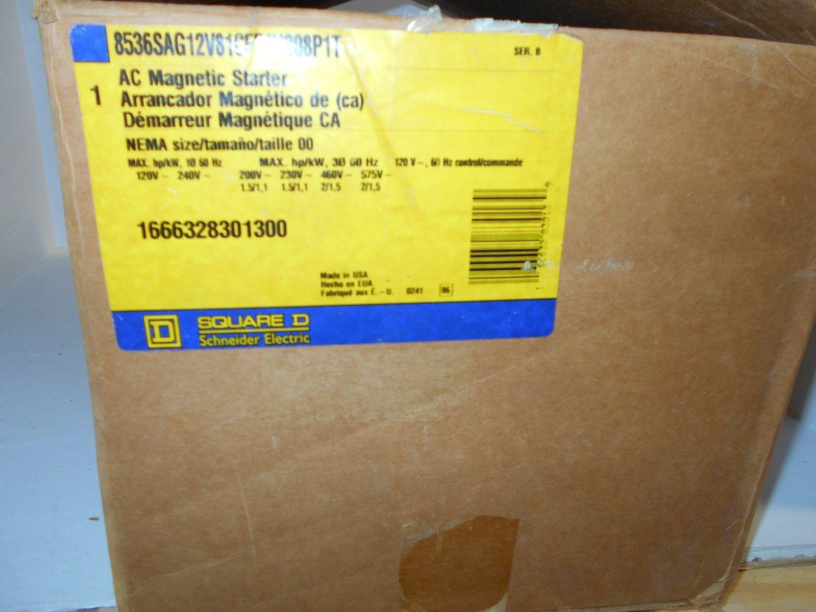 NEW SQUARE D 8536SAG12V081CFF4H308PIT SIZE 00 AC Magnetic ...