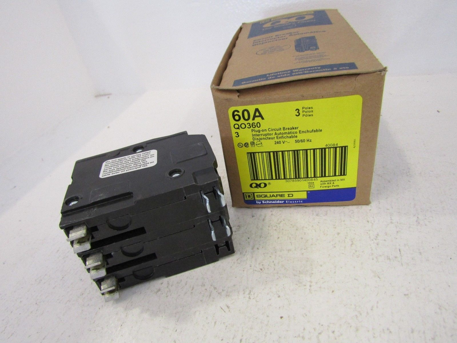 !!NEW SQUARE D QO QO360 3 POLE 60 AMP BREAKER 3P 60A 240V