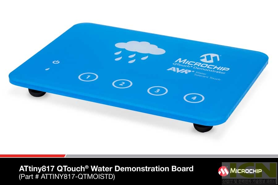 ATtiny817 QTouch Water Demonstration Board