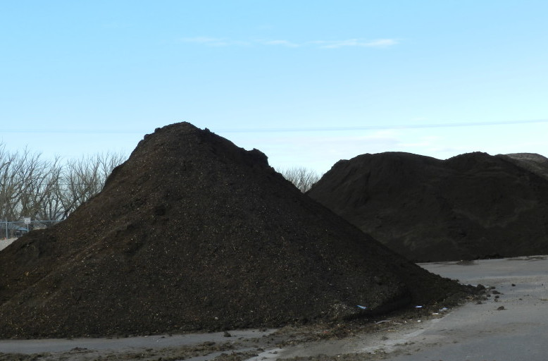 Finished commercial compost
