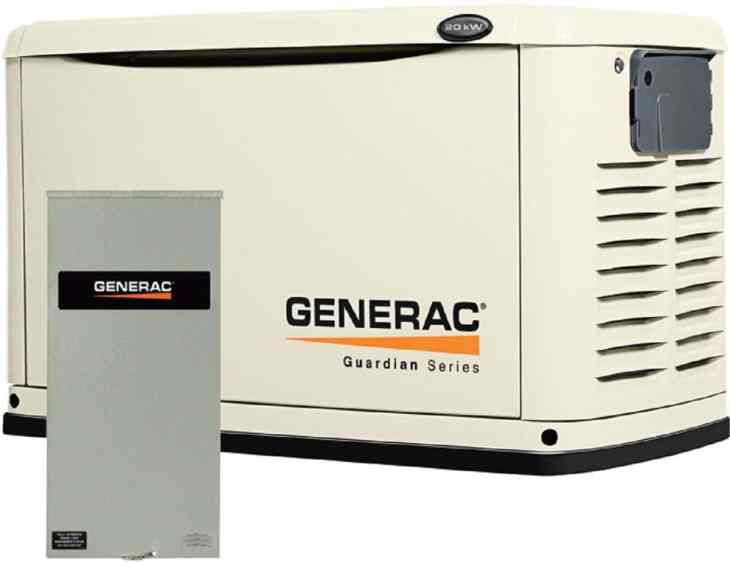 Generac Guardian 6729 20kW Generator with 200A SE Transfer Switch