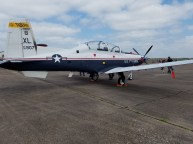 This is the T-6 Texan II. My Daddy worked on the development team for this plane at Raytheon after he retired from the Air Force.