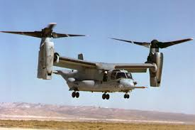 Osprey - it's a hybrid helicopter/air plane!