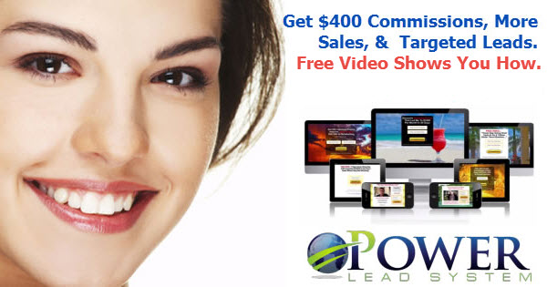 New Banners for use in advertising Power Lead System and the up to $400 Commissions