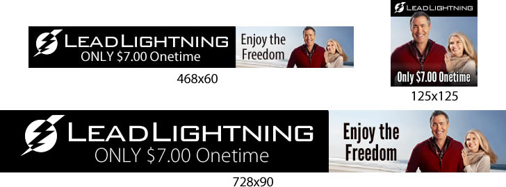 Lead Lightning Free Banners for you to use