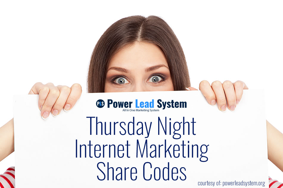 Thursday Night Power Lead System Marketing Hangout Share Codes