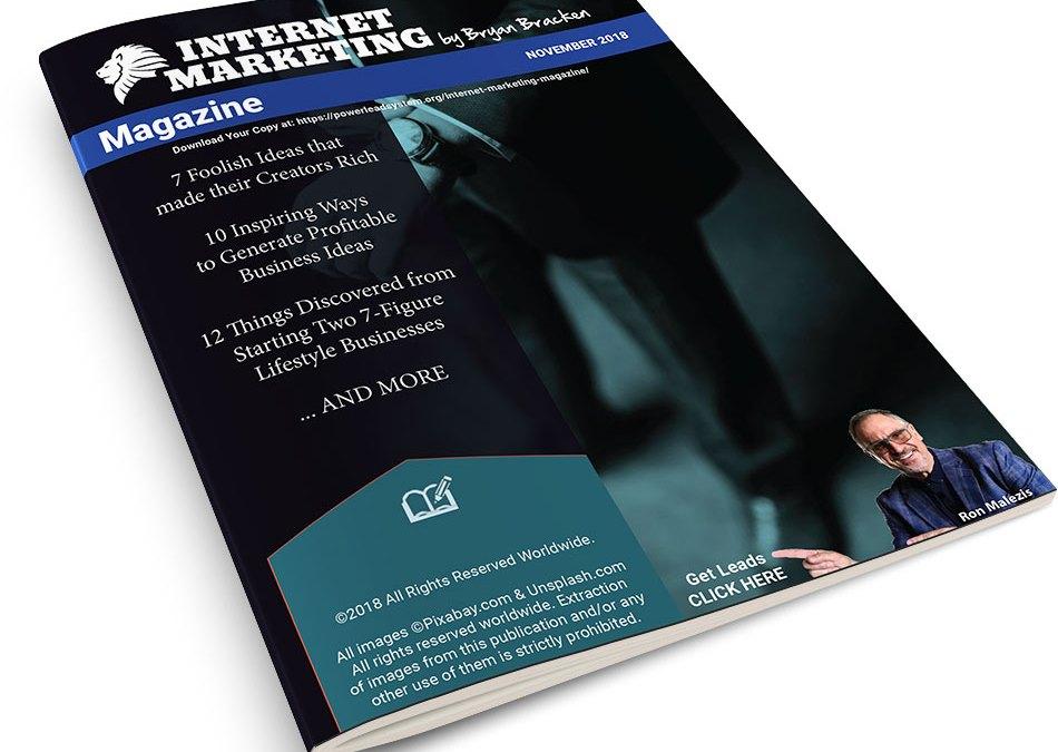 Internet Marketing Magazine – November 2018 Edition