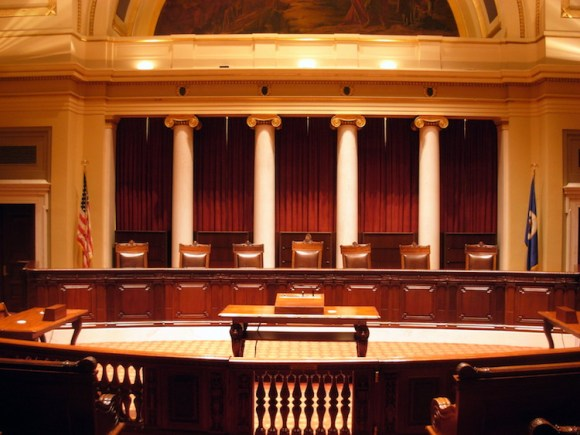 Today's Minnesota Supreme Court chamber; not, however, where I argued this case.