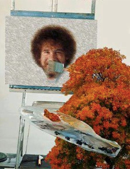 Ironic Bob Ross copy
