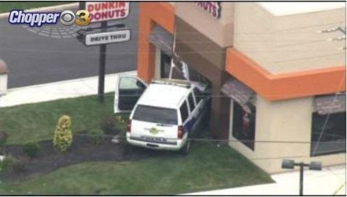 Thus guy mush have been jonesing for a donut real bad.