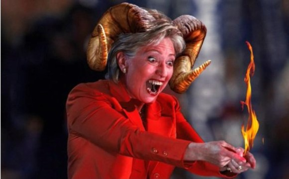 Hillary with Horns copy