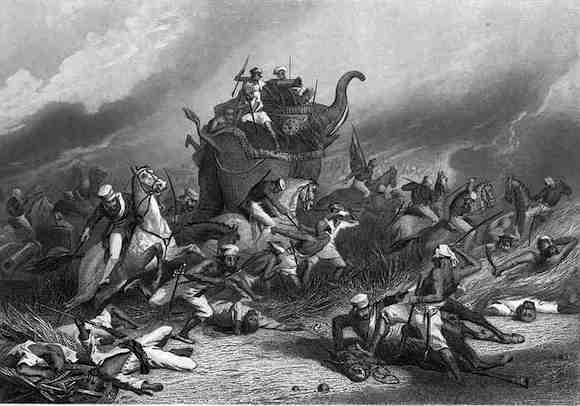 The massacre of English officers and their wives at Jhansi