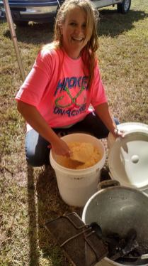 Mixing Batter for Hush Puppies