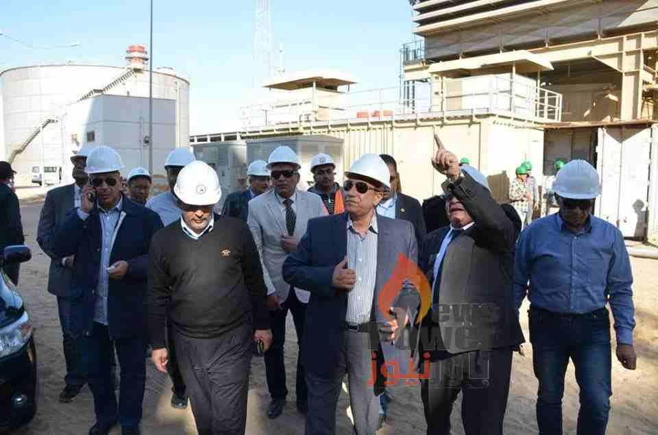 محافظ الاسماعيلية يزور محطة كهرباء الشباب واحمد الحسينى : المحطة اضافة لإنجازات الدولة