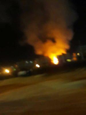 السيطرة على حريق مساكن شركة السويس لتصنيع البترول بعرب المعمل