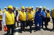 بالصور ..وزير البترول ومفوض الاتحاد الأوروبي للطاقة يتفقدان محطة معالجة غاز حقل ظهر