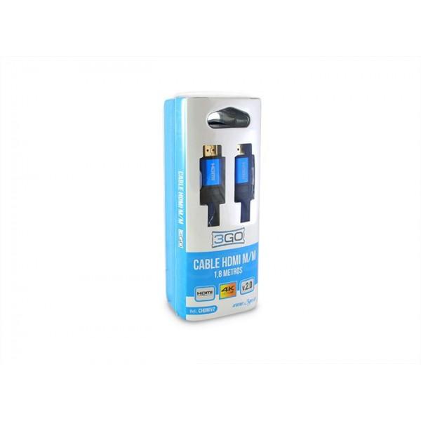 CABLE 3GO HDMI M-M 1.8M V2.0