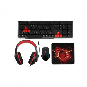 PACK MARS GAMING TECLADO + RATON + AURIC+ALFOMBRIL