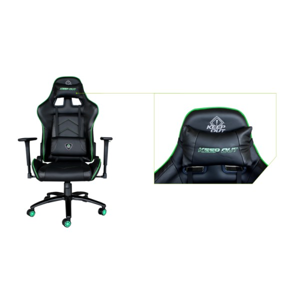 SILLA GAMER KEEP OUT XS400PRO VERDE