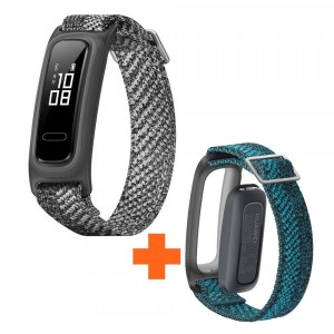 BUNDLE HUAWEI BAND 4E MISTY GREY + CORREA VERDE