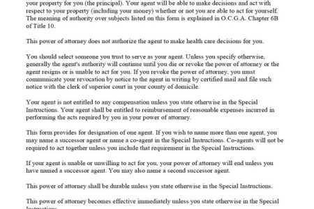 Free Letter Templates Unlimited Power Of Attorney Forms Free
