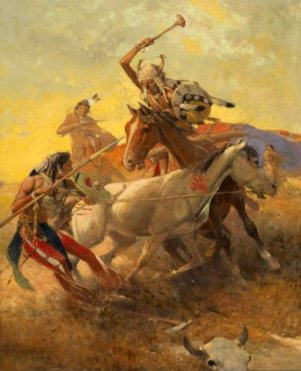 encounter-of-crow-and-blackfeet-indians