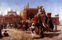 the-return-of-the-imperial-court-from-the-great-mosque-at-delhi-in-the-reign-of-shah-jehan