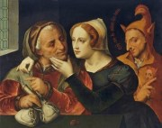 1529 Quentin Massys (Belgian painter, 1466-1530) The Jewelry & Money Pouch