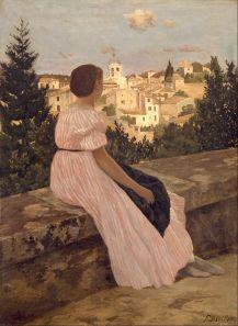800px-Frédéric_Bazille_-_The_Pink_Dress_-_Google_Art_Project