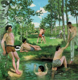 Bazille,_Frédéric_~_Summer_Scene,_1869,_Oil_on_canvas_Fogg_Art_Museum,_Cambridge,_Massachusetts