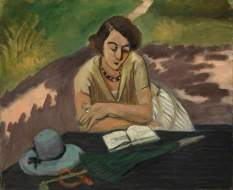 Matisse, Henri; Reading Woman with Parasol (Liseuse a l'ombrelle); Tate; http://www.artuk.org/artworks/reading-woman-with-parasol-liseuse-a-lombrelle-200721