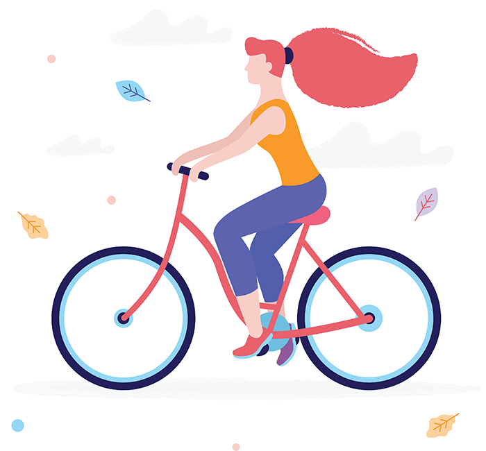 Power Of Hormones   Womens Health Offer  Image of Biking