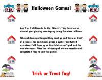 halloween pe tag games