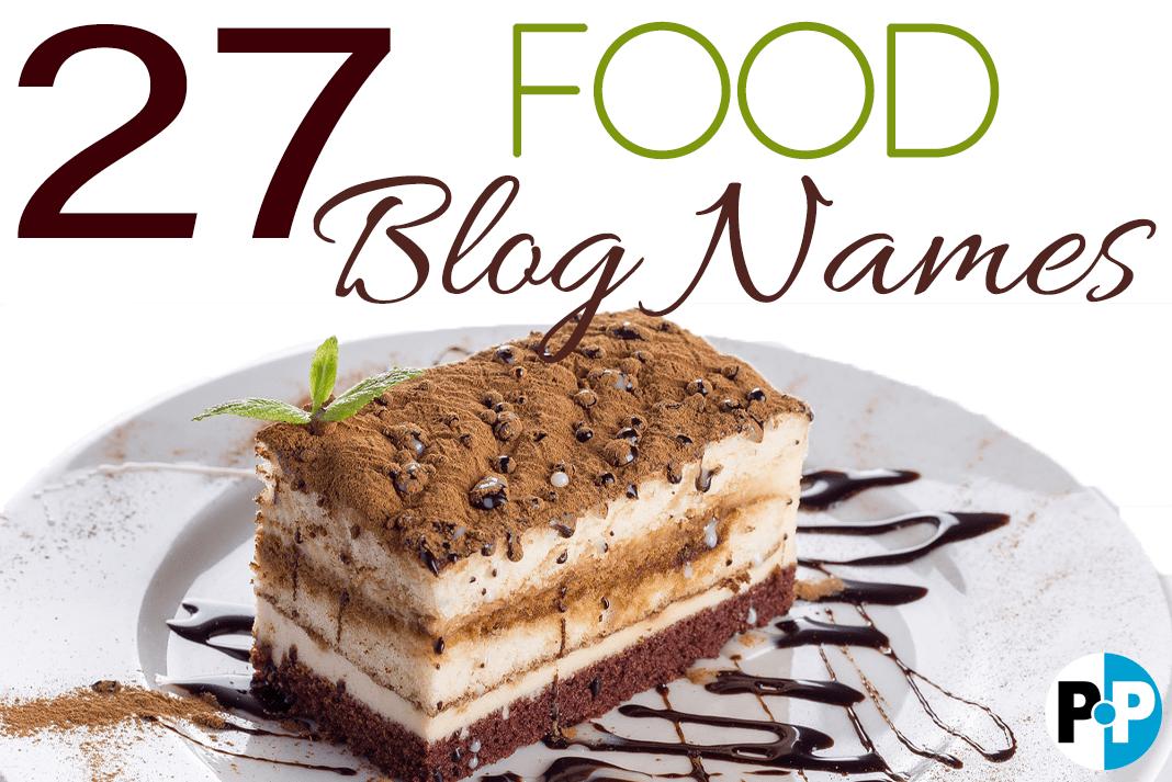 Food Blog Names